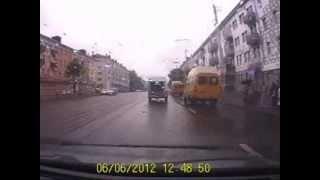 Лихач на трамвайных путях видеорегистратор Витебск