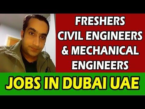 Jobs in Dubai For Civil Engineering & Mechanical Engineer
