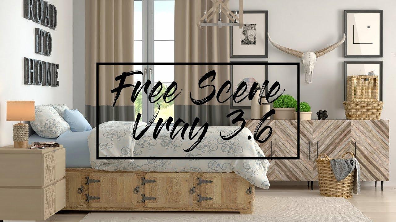 [Free Scene] 3ds max vray rendering | vray 3 6 rendering tutorial | Scene 2