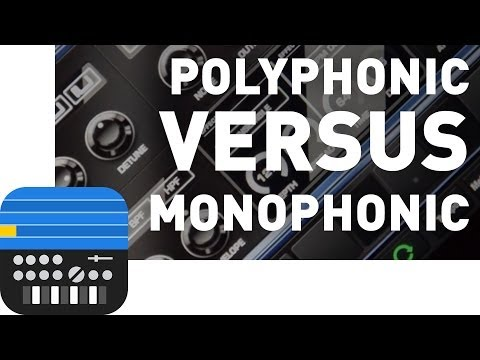 Polyphonic Versus Monophonic Synthesizers