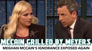 Seth Meyers Grills Meghan McCain Over Ignorant Comments