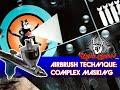 Airbrush Technique: Complex Masking with P61 Squadron Insignia