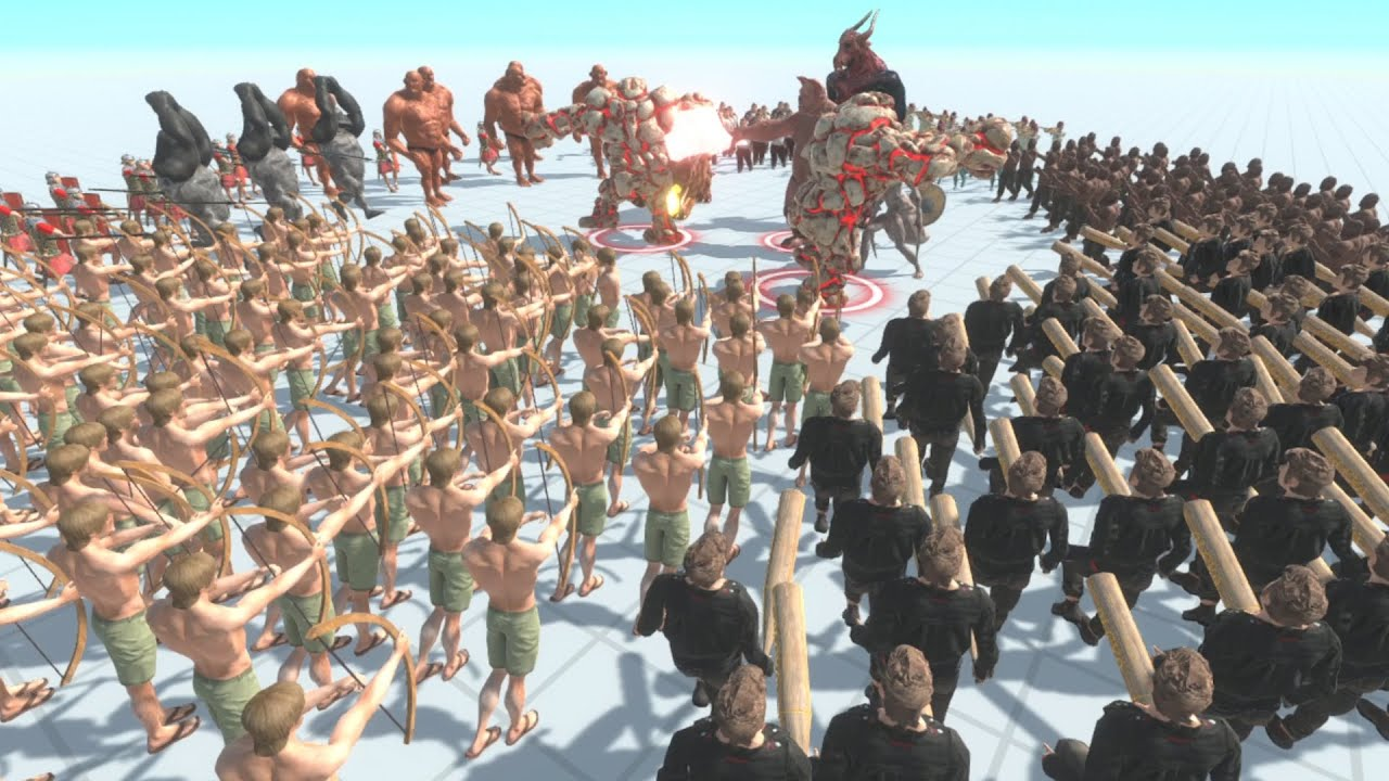 笑わずにはいられない戦いを実現できる神ゲー『 Animal Revolt Battle Simulator 』