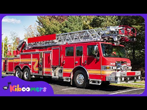 Firetruck Song for Kids | Hurry Hurry Drive the Fire Truck | The Kiboomers