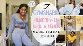 NEW GYMSHARK TRY-ON HAUL REVIEW   New Vital Energy Flex & More