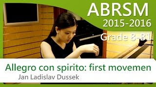 [青苗琴行 x 黃蔚然 Vanessa] ABRSM Piano 2015-2016 Grade 8 B1 Dussek Allegro con spirito: first movement