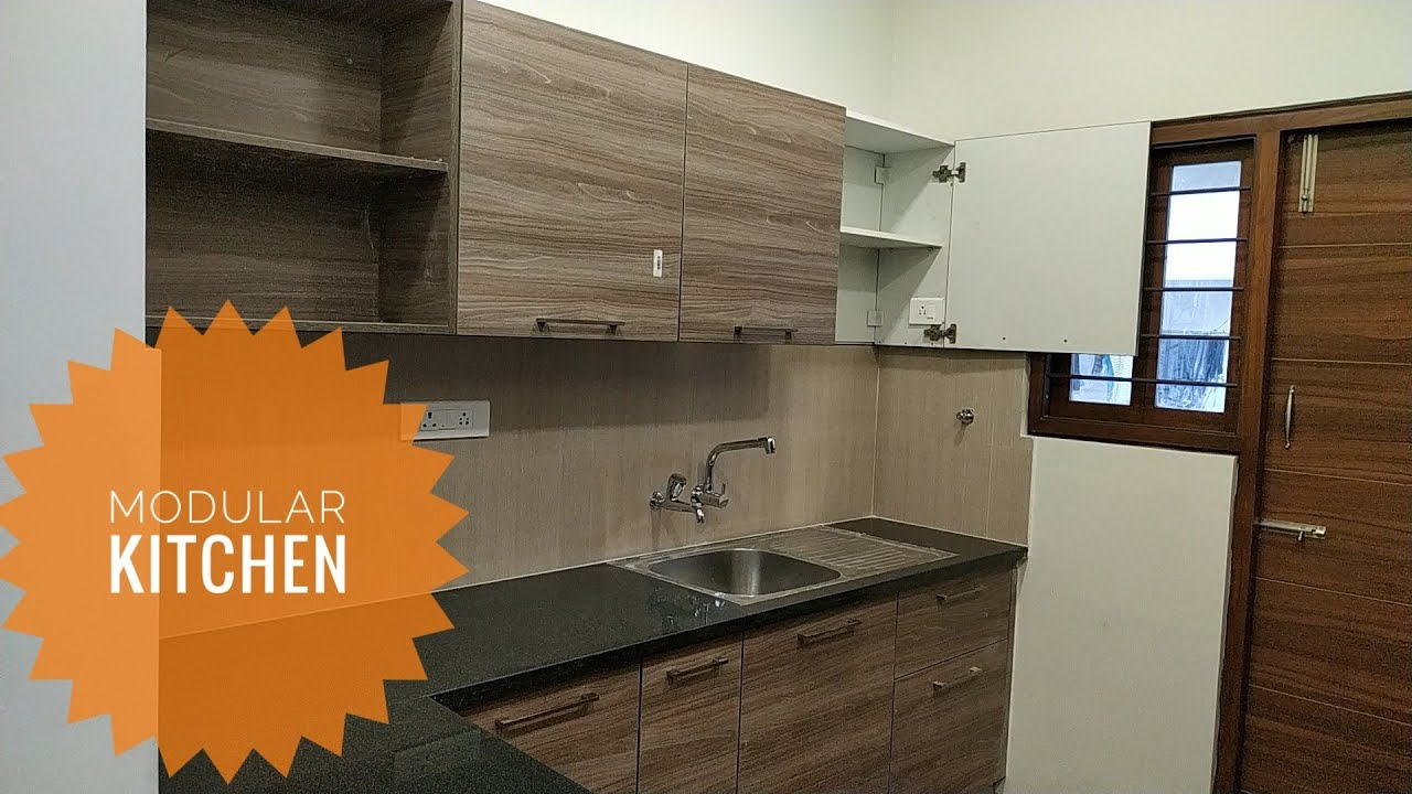 Modular Kitchen In Small Space Modular Kitchen Cabinets Kitchen Design India Youtube