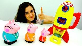 Peppa Pig auf Deutsch. Familie Wutz kauft eine Rakete