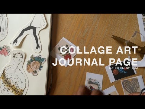 DIY Collage Art Journal Page - Fashion Illustrations and Flora