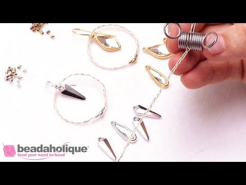 How to Make a Braided Soft Flex Charm Earring by Sara Oehler
