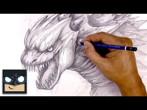 How To Draw Godzilla | Sketch Tutorial thumbnail