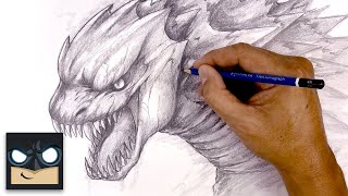 How To Draw Godzilla | Sketch Tutorial