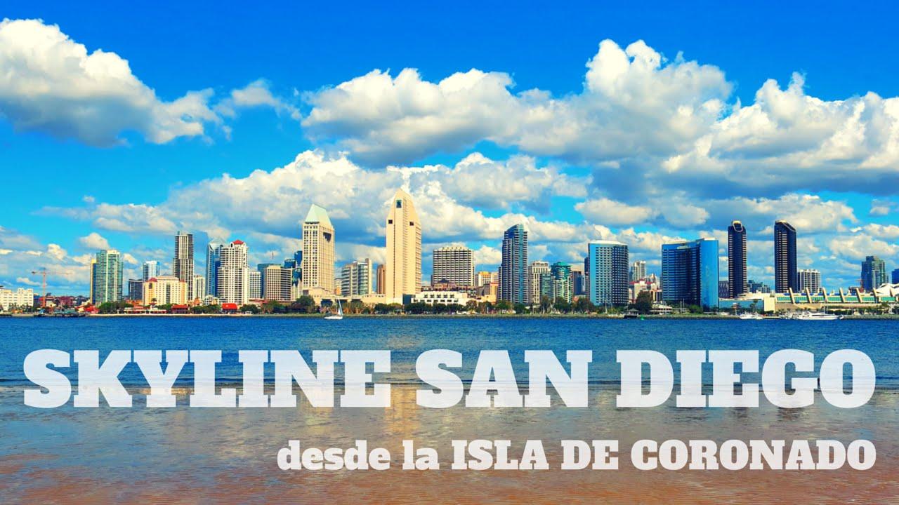 skyline san diego desde la isla de coronado youtube