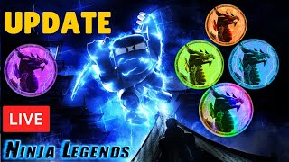 ⚡UPDATE *ALTAR OF ELEMENTS* soon | Z-MASTER GIVEAWAY Ninja Legends  ROBLOX LIVE STREAM (24 Jan 2020)