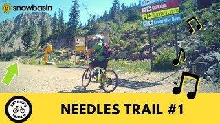 So Much Fun Riding Utah Snowbasin #1 Needless Trail, MTB Downhill [HD]
