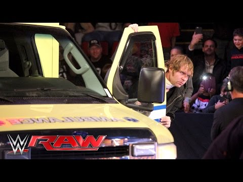 An injured Dean Ambrose retaliates against Brock Lesnar: Raw, February 22, 2016