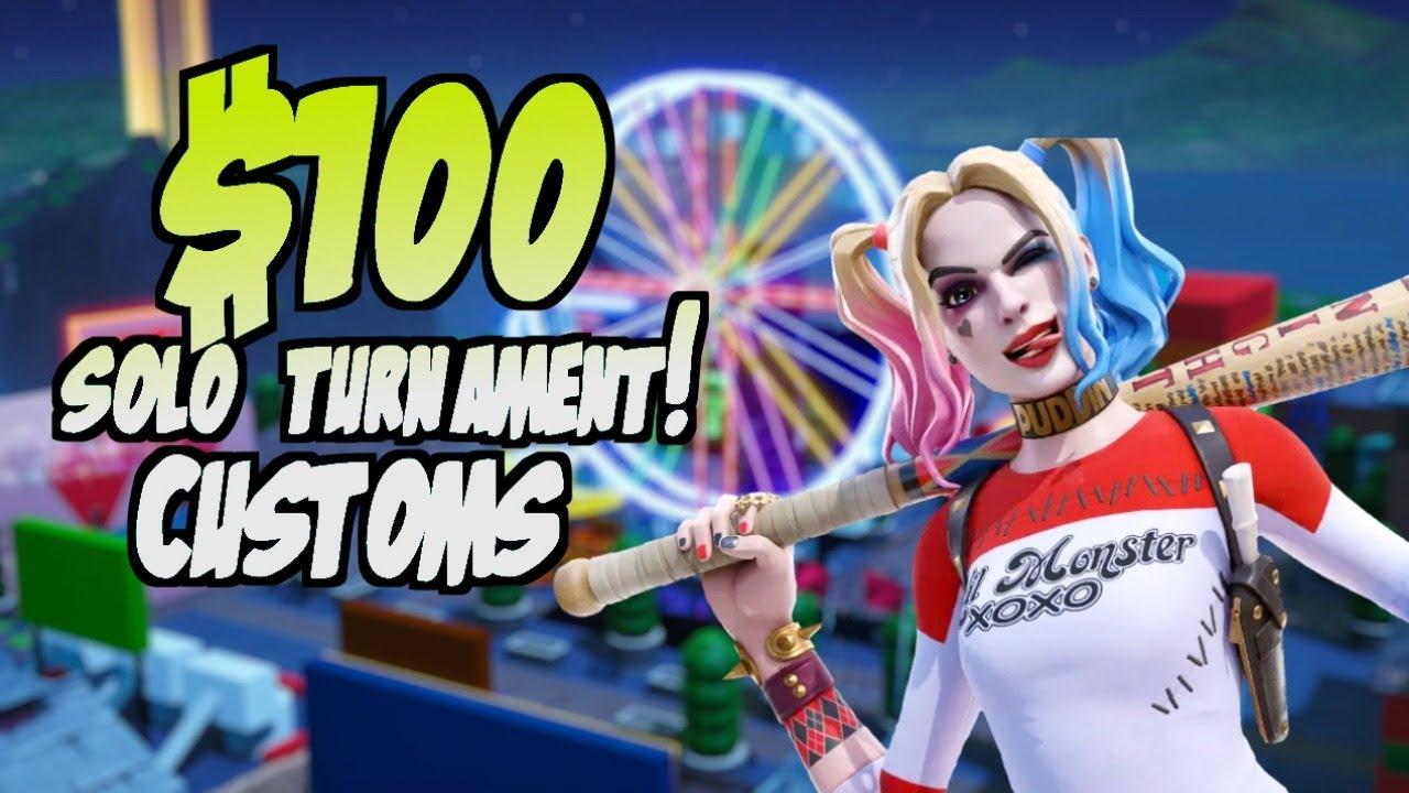 🔴 $100 SOLO TOURNAMENT ! FORTNITE CUSTOM MATCHMAKING SCRIMS LIVE! #RazorStreamer