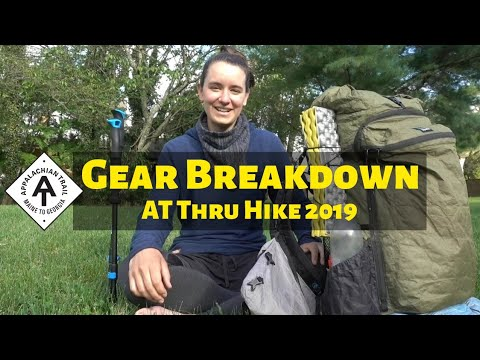 AT Thru Hike Gear Breakdown 2019