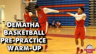 dematha basketball pre practice warm up