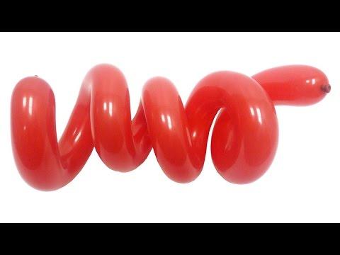 Cмотреть видео онлайн Спираль №1 из воздушных шаров