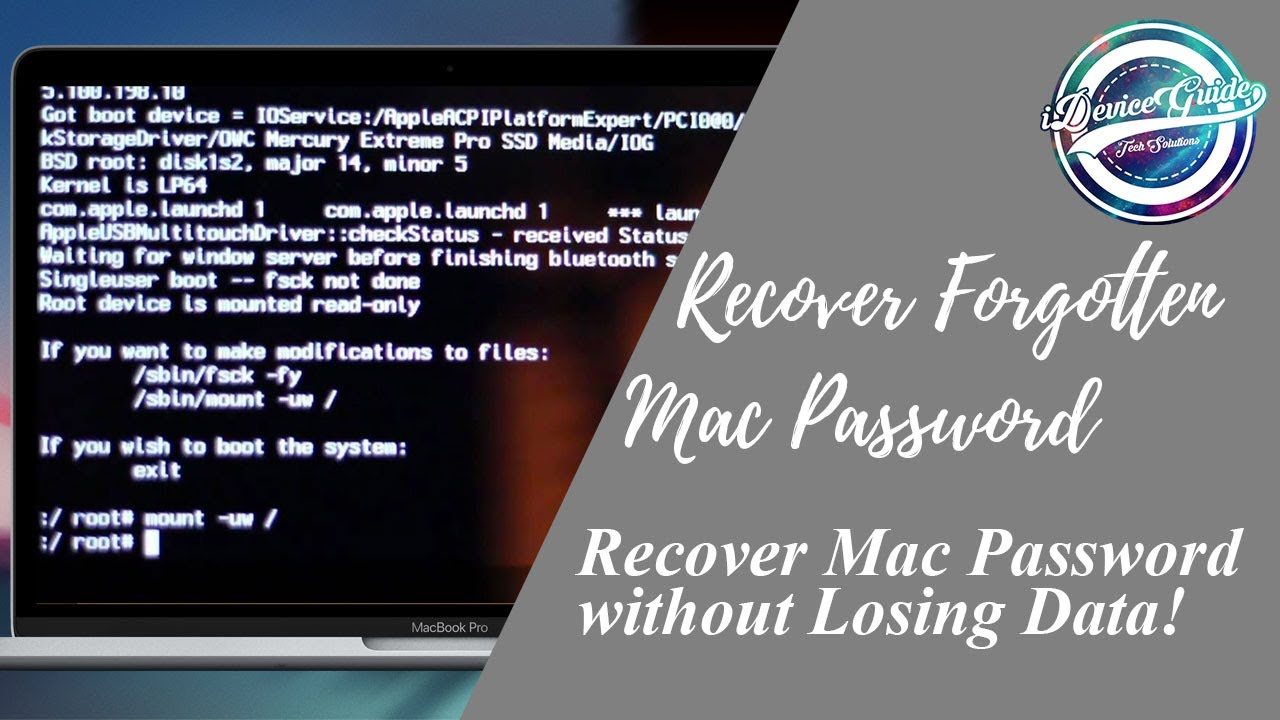 how to change macbook password