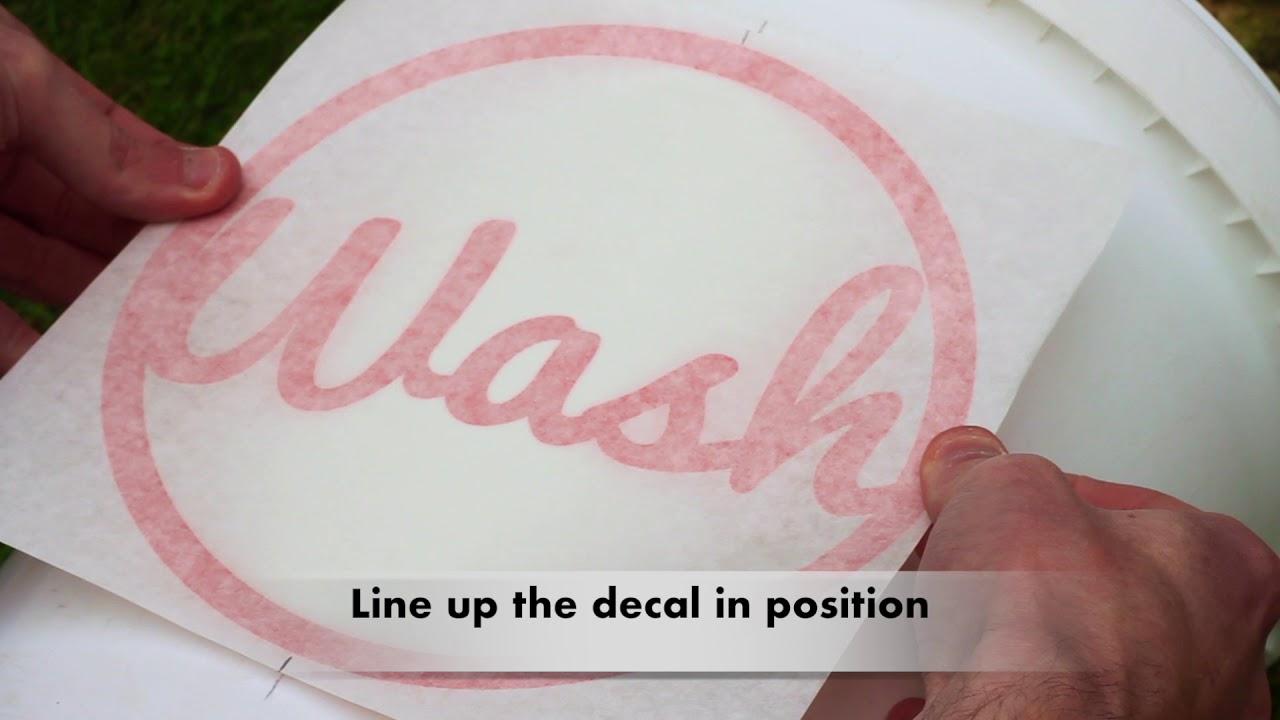 Car Detailing Wash Bucket Vinyl Decal Sticker How To Install YouTube - Vinyl decals car wash