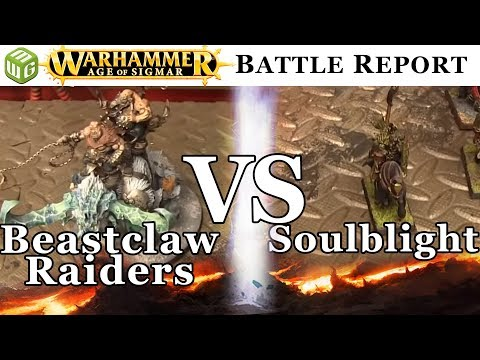 Beastclaw Raiders vs Soulblight Age of Sigmar Battle Report - War of the Realms Ep 184
