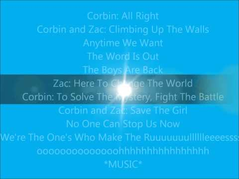 The Boys Are Back-Lyrics-Zac Efron and Corbin Bleu