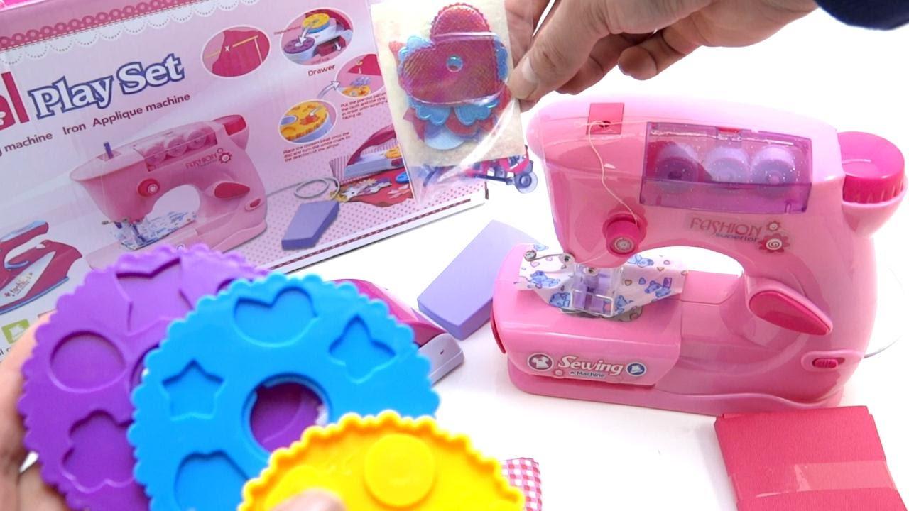 Maquina De Coser De Juguetes Para Niñas y Aplicador De