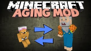 Minecraft: THE AGEING MOD! - Start as a baby, die as an old steve!