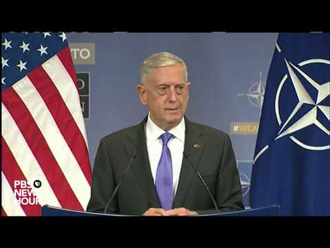 Defense Sec. Mattis speaks at NATO summit