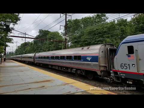 Amtrak Silver Meteor Train No. 97 with new Viewliner Diner in tow