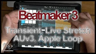 Beatmaker 3  | Transient Detect | Live Stretch | AUv3 Midi | Apple Loop