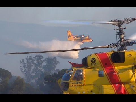 Canadair CL-215 e Kamov Ka-32 fire fighting