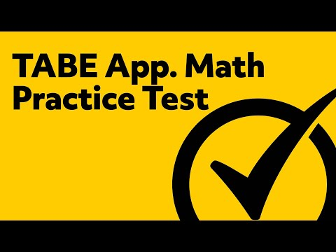 Best TABE Applied Math Practice Test