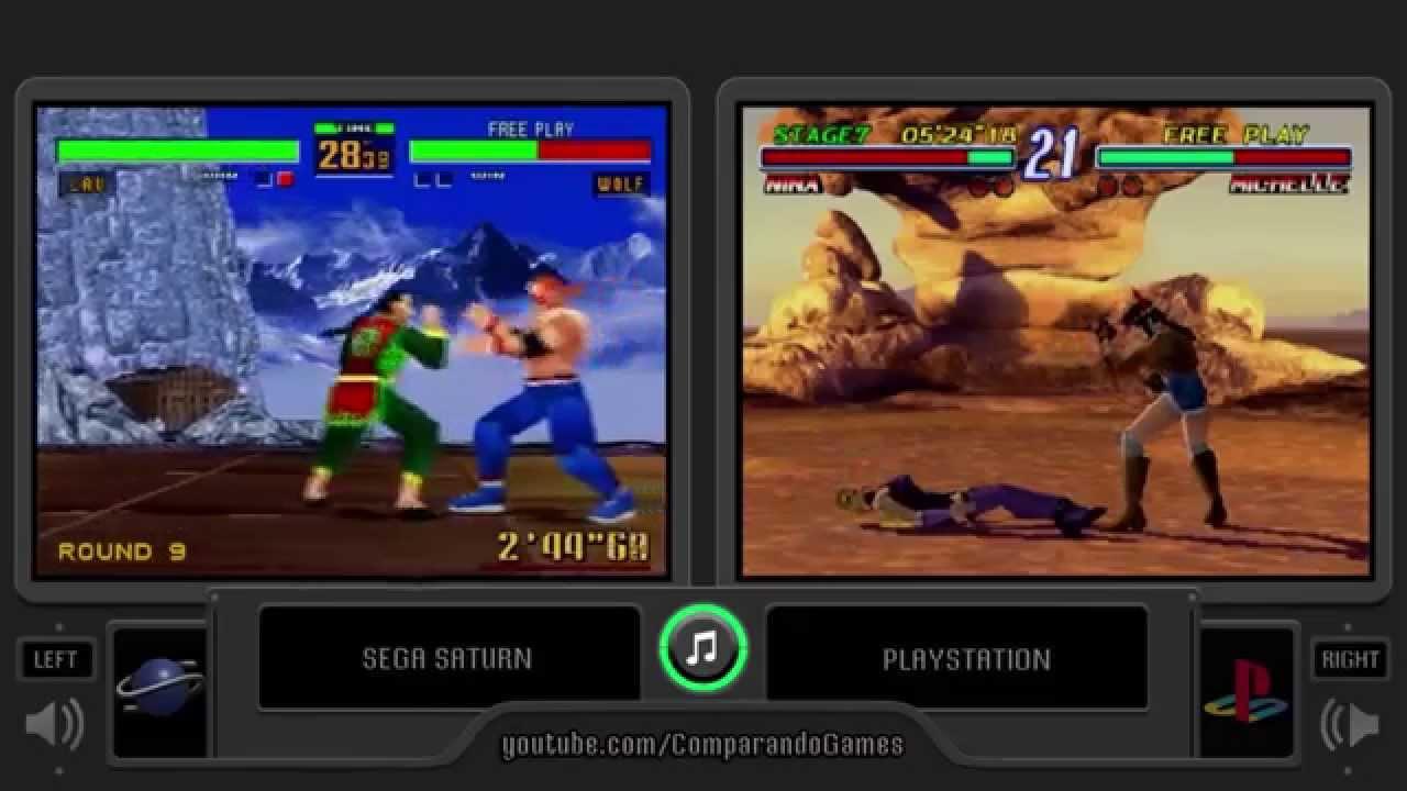 Virtua Fighter 2 Vs Tekken 2 Sega Saturn Vs Playstation