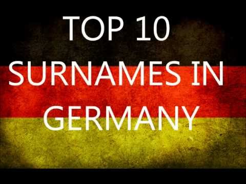 Top 10 most popular Surnames in Germany