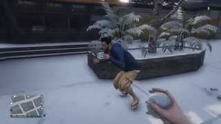 【GTA5 実況】 クリスマスに雪玉投げつけ警官1名が死亡 (米:12月24日夜) - クリスマスアップデート紹介 オンライン thumbnail