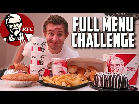 THE SUPERCHARGED KFC MENU CHALLENGE! (10,000+ CALORIES)