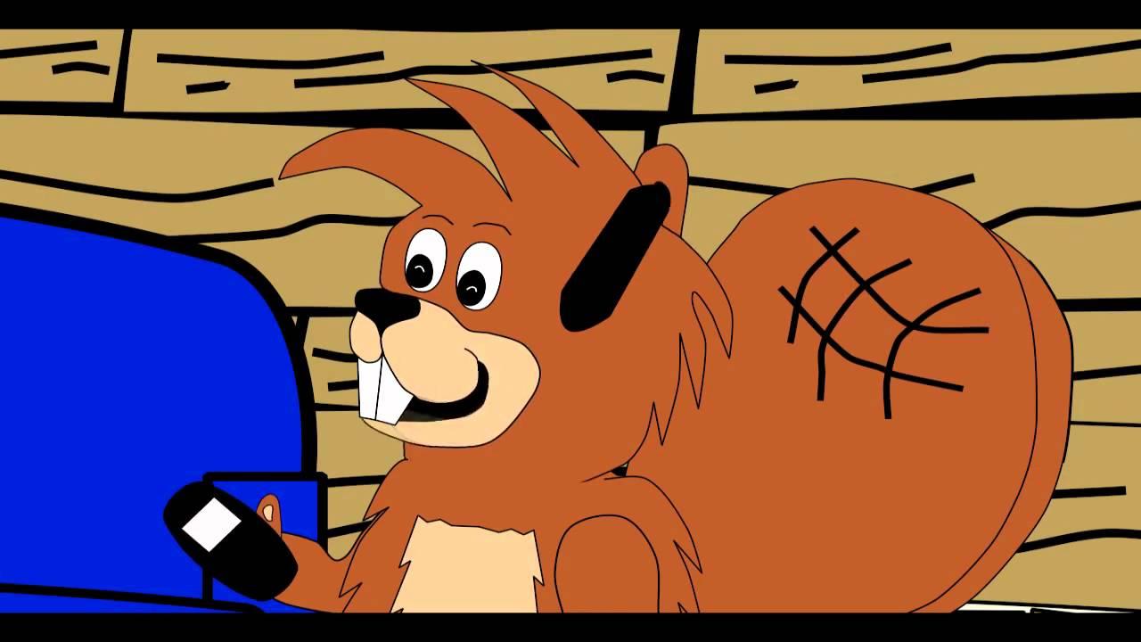 cartoon funny beaver say cheese