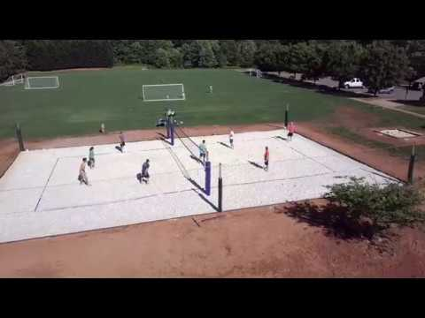 Beach Volleyball Court Construction - YouTube
