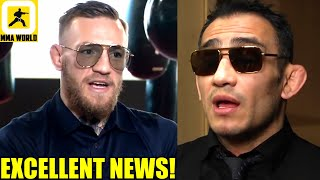 Conor McGregor reacts to Tony Ferguson agreeing to fight on Dec 12 at UFC 256,Dana White on Tyson
