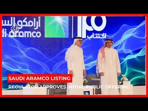 Saudi regulator approves Aramco share listing request