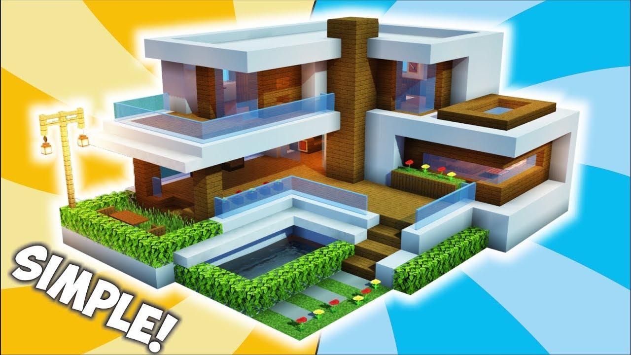Cara Membuat Rumah Modern Unik, Simple & Minimalis ! || Minecraft Modern  Pt.12 - YouTube