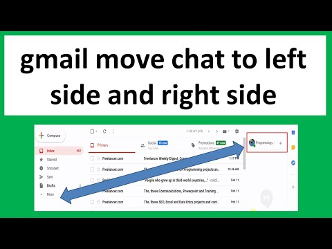 Gmail Move Chat To Right Side And Left Side, Move Hangouts To Left, Google Hangout Tricks 2020