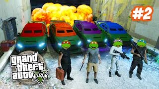 GTA 5 Online NINJA TURTLES Special #2!!! Teenage Mutant Ninja Turtles GTA Squad! (GTA 5 Gameplay)
