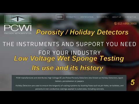 Wet Sponge Low Voltage Porosity Holiday Tester And Its