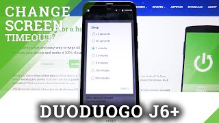 How to Set Screen Timeout in DUODUOGO J6+ - Manage Screen Timeout