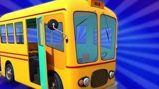 Wheels on the Bus | Schoolies Cartoons | Nursery Rhymes & Children Songs