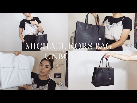 "Michael Kors ""Large Mecer Tote"" UNBOXING & FIRST IMPRESSION"